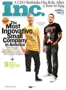 Threadless on the cover of Inc. Magazine – Congrats!
