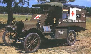 An army ambulance