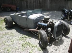 A sporty roadster