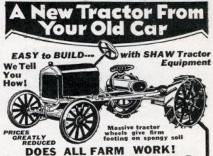 An ad for a tractor kit