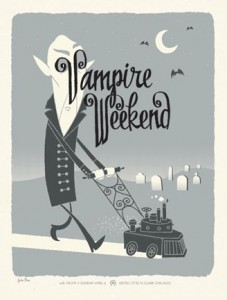 Vampire Weekend poster by Spike Press