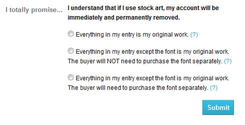 New Stock Art Policy